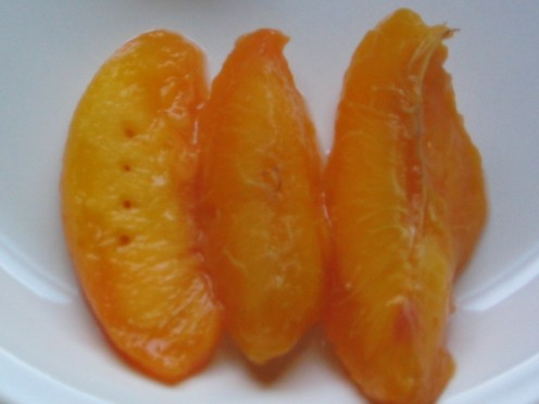 Peaches with Fresh Sliced