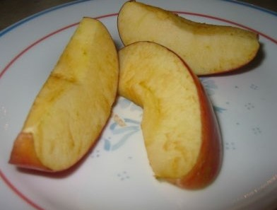 apples without fresh sliced